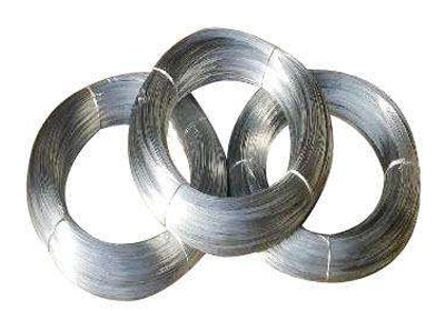 Galvanized steel wire is generally used as